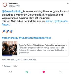 Silicon NYC Tweet