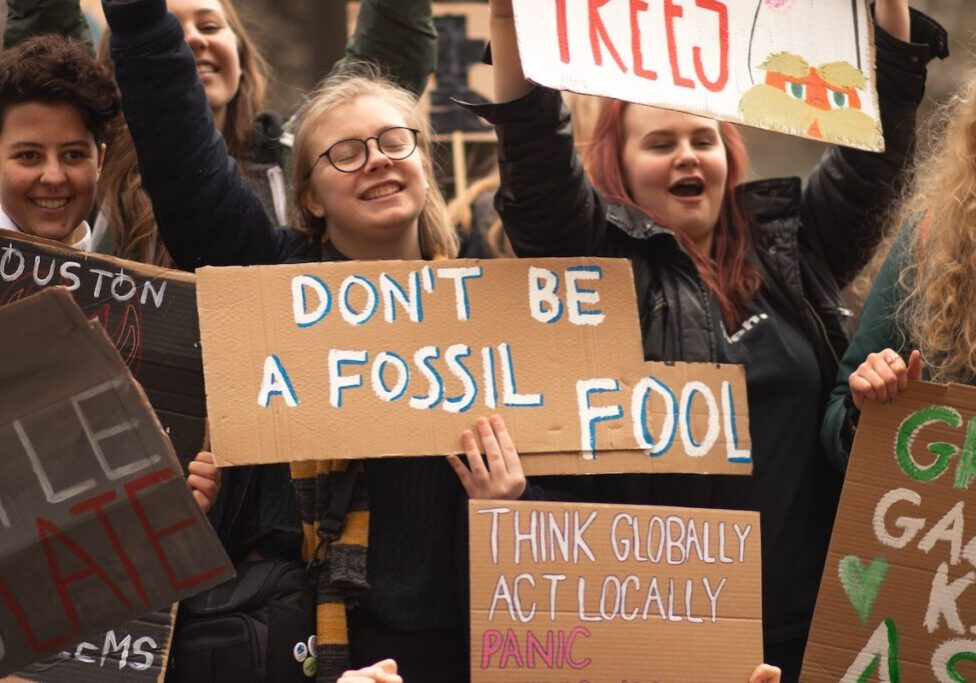 Climate activists using puns to draw attention to the climate movement
