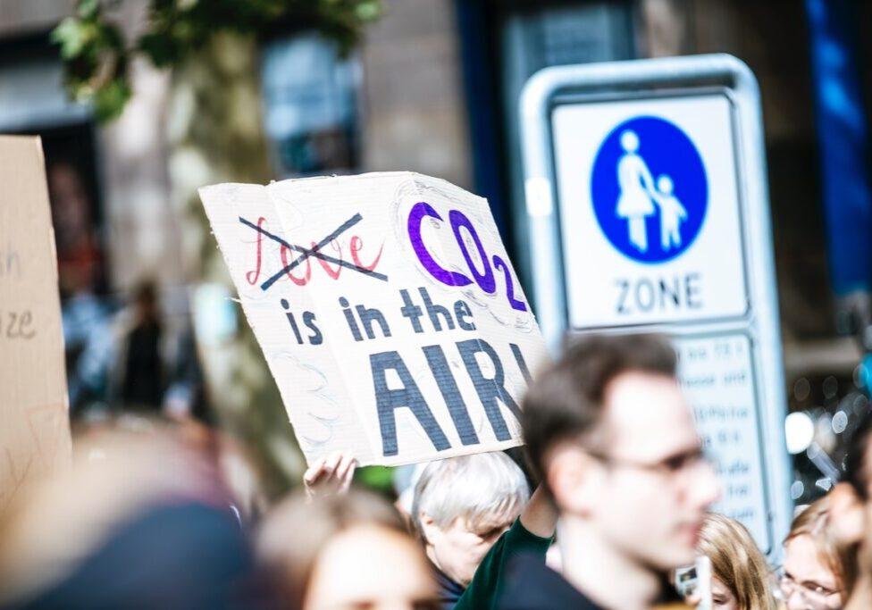 carbon emissions climate protest