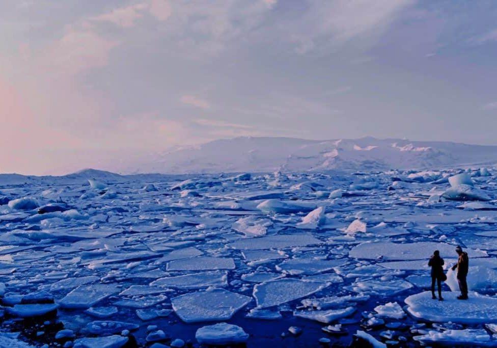 frozen waters breaking apart
